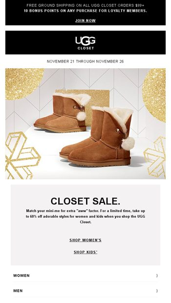 4a98e6476 Cute boots for you and your little one - UGG Email Archive