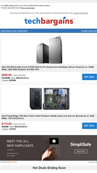 Ready-to-ship Dell PC Deals: $669 99 Dell XPS Core i7 Gaming