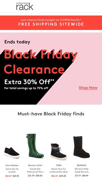 c99ec6a9f13 ❗️Last day of Black Friday CLEARANCE❗ - Nordstrom Rack Email Archive