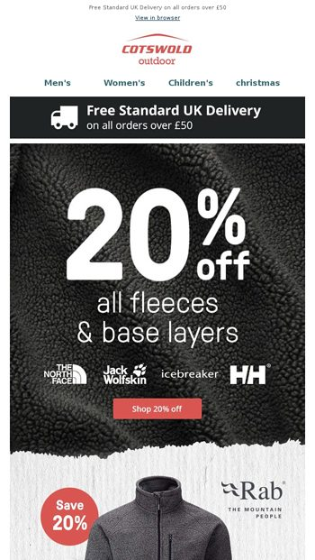 521de5335ed 20% off all Fleeces and Baselayers - Cotswold Outdoor Email Archive