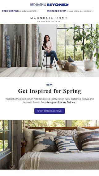 New Magnolia Home By Joanna Gaines Bed Bath Beyond Email Archive