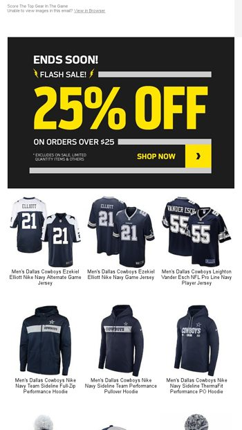 0b6a1b29ea76b1 Only Hours Left! 25% Off Sitewide (EVEN JERSEYS!) - NFLShop Email Archive