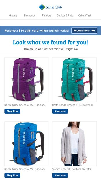 Check out these items recommended just for you - Sam s Club Email Archive adab8235f