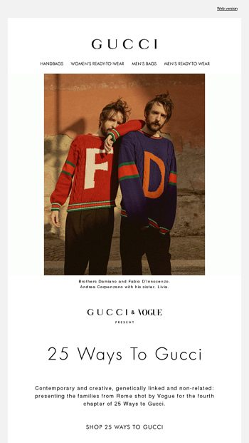 2ee8cbe86d8 25 Ways to Gucci  Roman Families - Gucci Email Archive