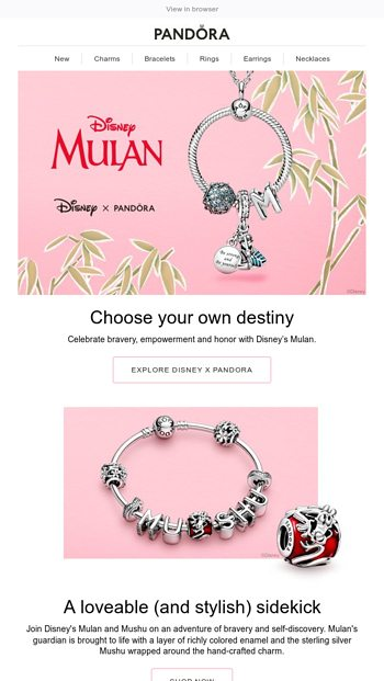 Embrace your inner strength with charms from Disney's Mulan ...