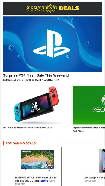 PS4's Surprise FLASH SALE | Get $20 VUDU Credit with SAMSUNG