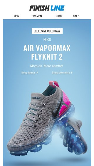 newest b9460 791fc The most air ever put in a VaporMax. - Finish Line Email Archive