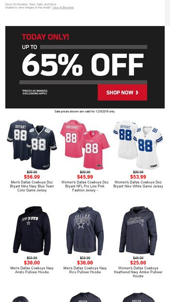 This Deal Is BIG! Up to 65% Off Ends Soon - NFLShop Email Archive 712ebcce3