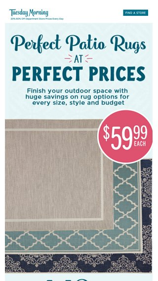Super Savings On Outdoor Rugs Tuesday Morning Email Archive