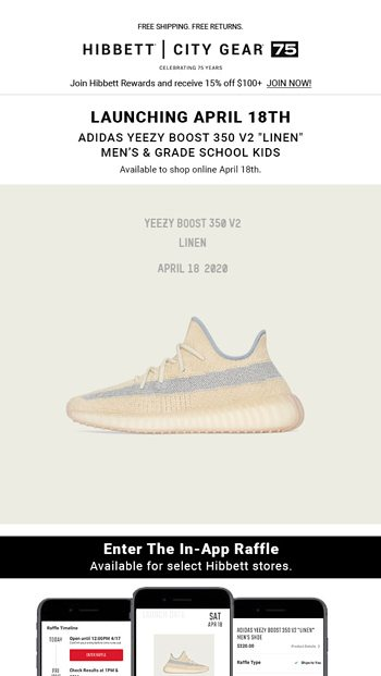 Enter the raffle for the adidas Yeezy