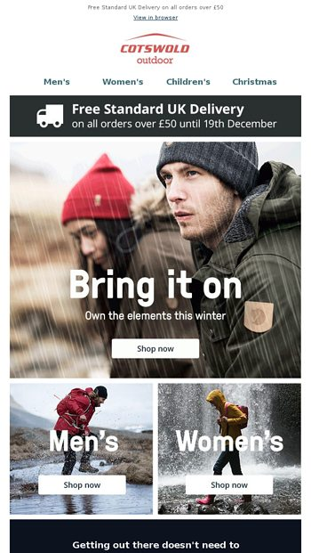 8b36b5fdd4f Don t be kept inside this winter - Cotswold Outdoor Email Archive