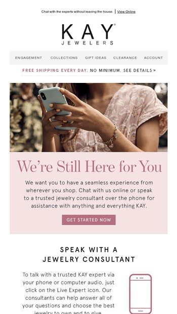 Speak With A Virtual Jewelry Consultant Kay Email Archive