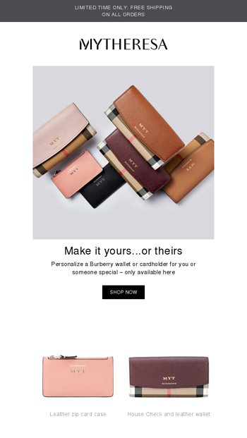 957c14d603846 Make it yours  personalize your Burberry wallet or cardholder + free  shipping - Mytheresa Email Archive