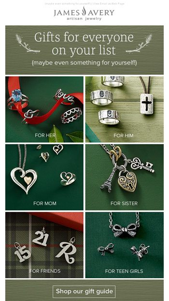 a1f21ca26 Gift ideas for everyone on your list - James Avery Email Archive