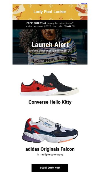 8dd05bb68efc7c New releases from Converse   adidas – available 12.6 - Lady Foot Locker  Email Archive