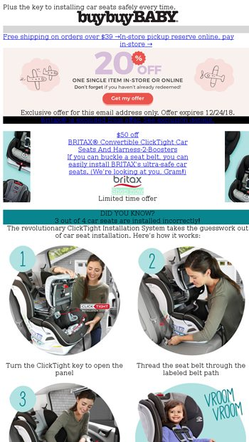 BuyBuy Baby Newsletters 111 PM EXCLUSIVE 50 OFF Introducing Parentapproved Car Seats