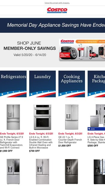 Memorial Day Liance Savings End
