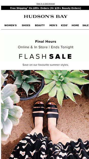 Flash Sale—final hours for up to 50