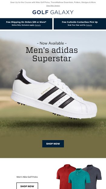 Out Now Men S Adidas Superstar Golf Shoes Golf Galaxy Email Archive