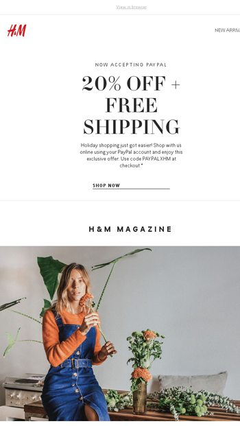 Attn: We now offer PayPal at hm com! - H&M Email Archive