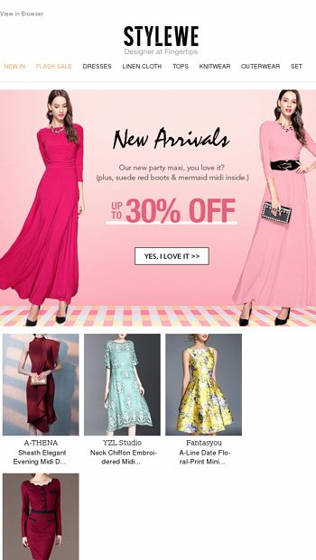 a02664af24 A Test: Will U Fall for This Party Maxi? - StyleWe Email Archive