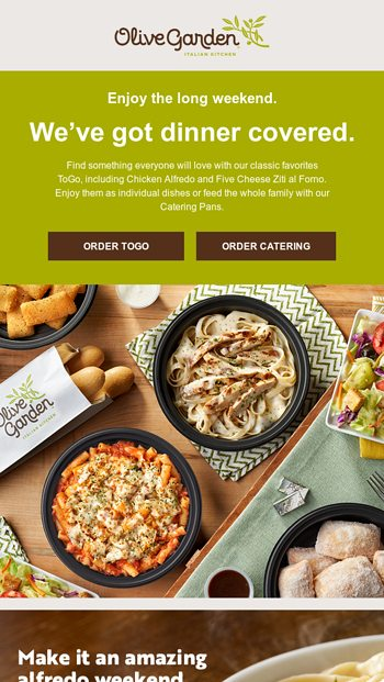 Weekend Meals For The Family Made Easy Olive Garden Email Archive