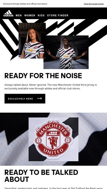 Oh querido Haz lo mejor que pueda loseta  The new Manchester United third jersey is now available - adidas Email  Archive