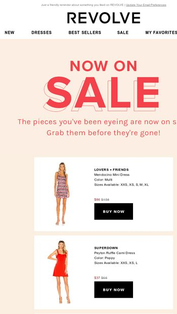 Now On Sale The Pieces You Ve Been Eyeing Revolve Email Archive Poshmark makes shopping fun, affordable & easy! email tuna