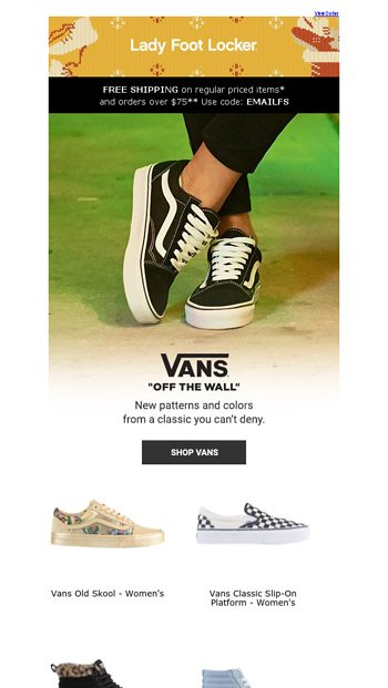 7382fccdf5 Fresh looks from Vans let you do you. - Lady Foot Locker Email Archive