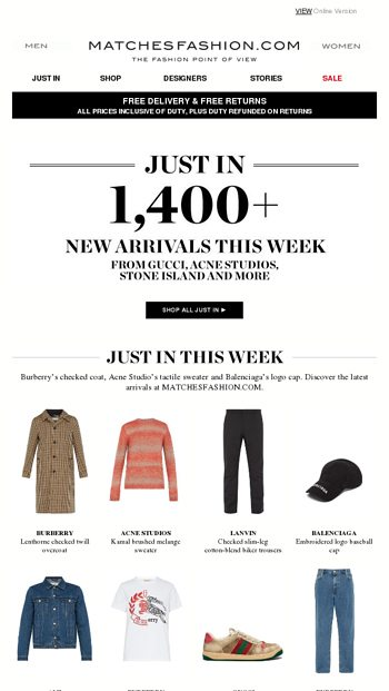 Just in: style updates from Burberry, Acne Studios and