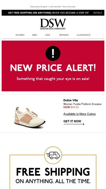 3829c2465cf PRICE DROP on something you looked at! - DSW Email Archive