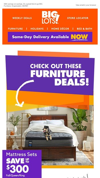 Fab Furniture Deals Big Lots Email Archive