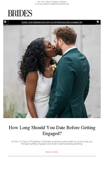 dating before getting engaged