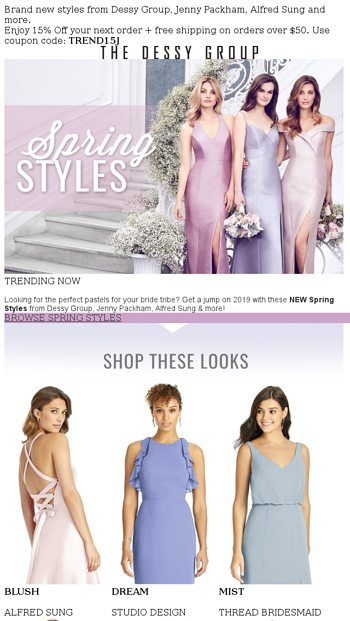 54e1cac8931 #TrendingNow - 2019 Spring Styles - The Dessy Group Email Archive