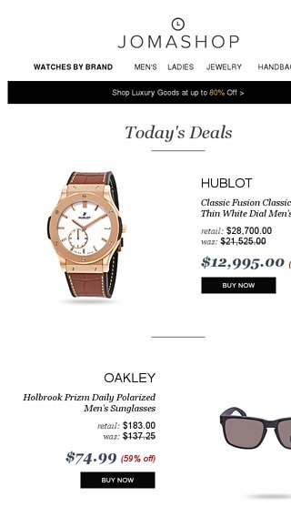 1a5ee0379fb 🔥 DAILY DEAL  55% off Hublot