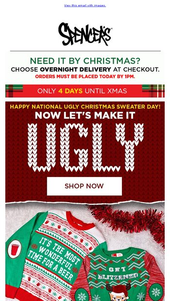 Merryxmas Ugly Christmas Sweater From Spencers Gifts