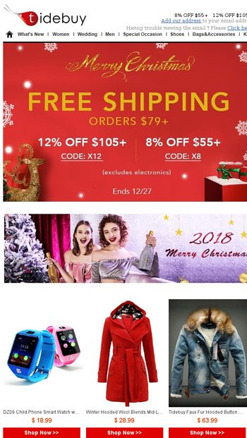 e2b62e9081e Christmas is coming ! Special Discount as well. - Tidebuy Email Archive