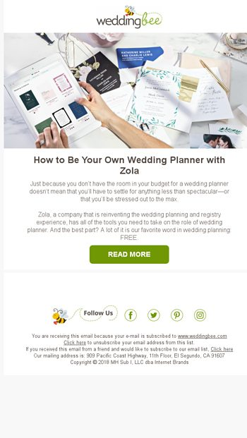 How To Be Your Own Wedding Planner With Zola Weddingbee Email Archive