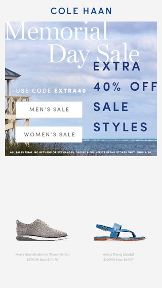 beach bbq memorial day sale cole haan email archive