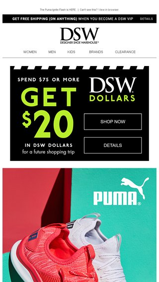 e6579c2ebc53 Final call    Get  20 DSW Dollars. - DSW Email Archive