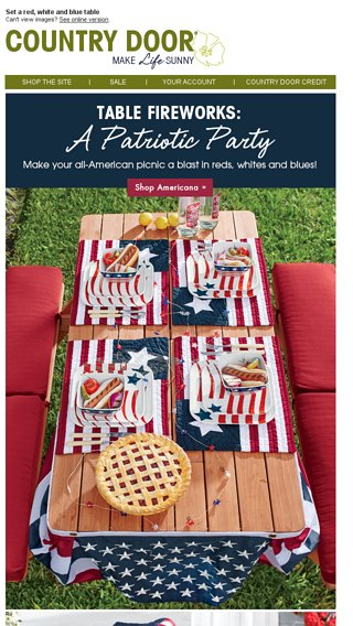 Did Someone Say Picnic Country Door Email Archive