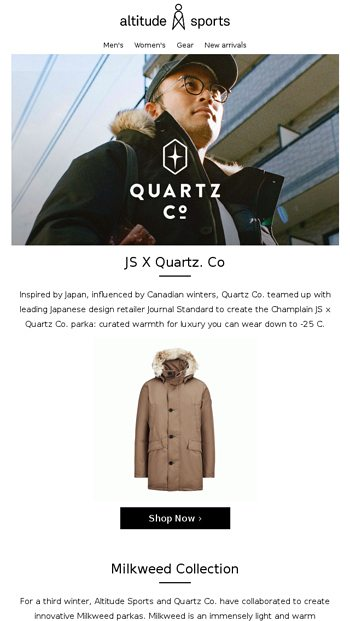 aa9208369c0 Quartz Co. | Exclusive New Collaborations - Altitude Sports Email ...