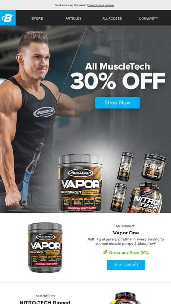 This Weekend Only: Save 30% On ALL MuscleTech Products