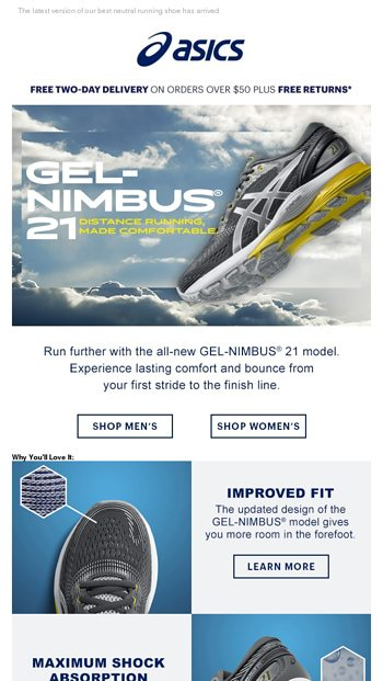 e2c7d61e5fcc4 GEL-NIMBUS® 21: Distance running, made comfortable - ASICS Email Archive