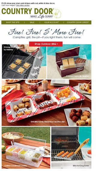 Its Bbq Season We Want Smore Country Door Email Archive