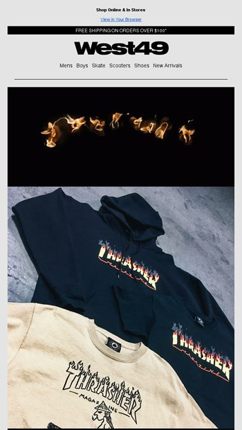 b1e1331c4043 Thrasher - New Drop! - West 49 Email Archive