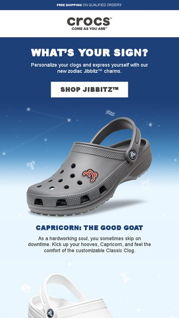 """98b3c2d9420 â These new zodiac Jibbitzâ""""¢ charms will have you seeing stars â - Crocs  Email Archive"""