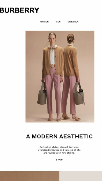 8f104b14e4ad A Modern Aesthetic - Burberry Email Archive