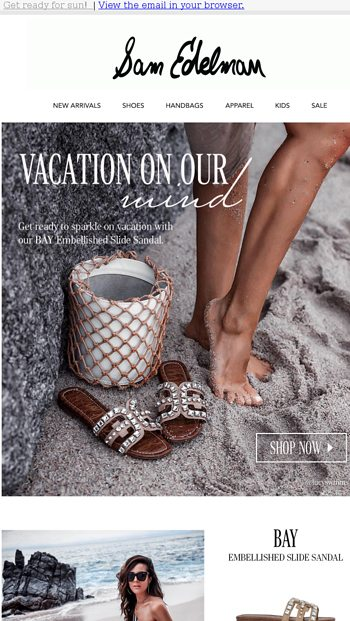 better discount shop good texture Saturday Style: Vacation Mode - Sam Edelman Email Archive