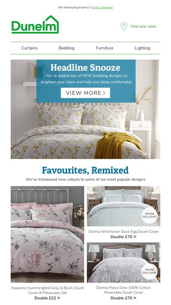 8cbce0c751f8 New Bedding - just in and just what you like - Dunelm Email Archive